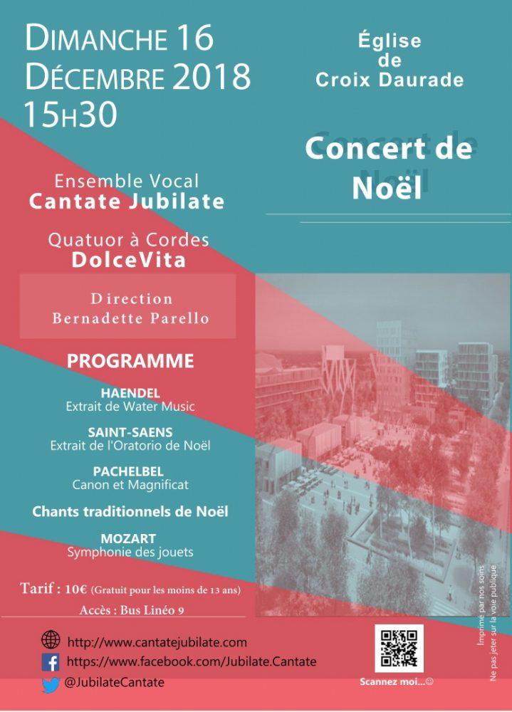 Affiche du Concert de Noël du 16 décembre 2018